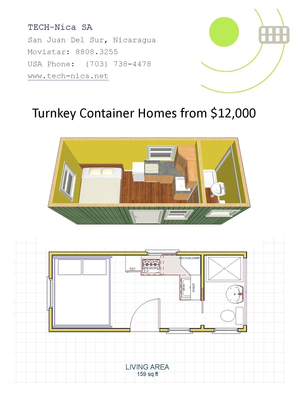 20ft container house plans