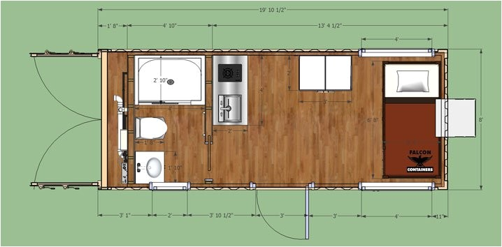 shipping container home 20ft bunkhouse