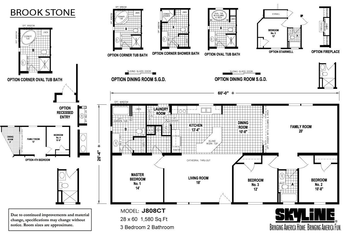 2000 skyline mobile home floor plans