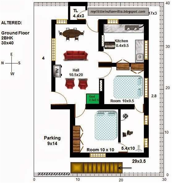 30x40 west facing house plans vastu