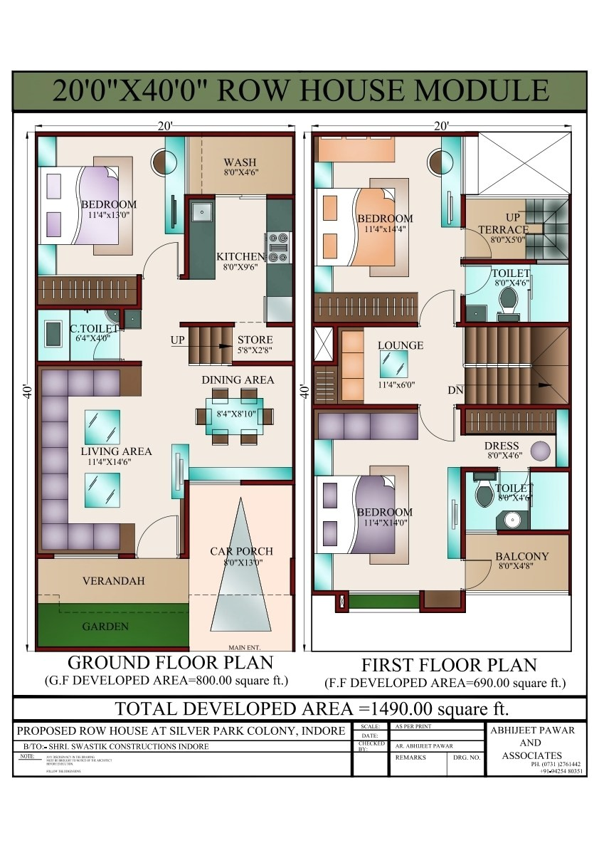 20 x 40 house plans 800 square feet