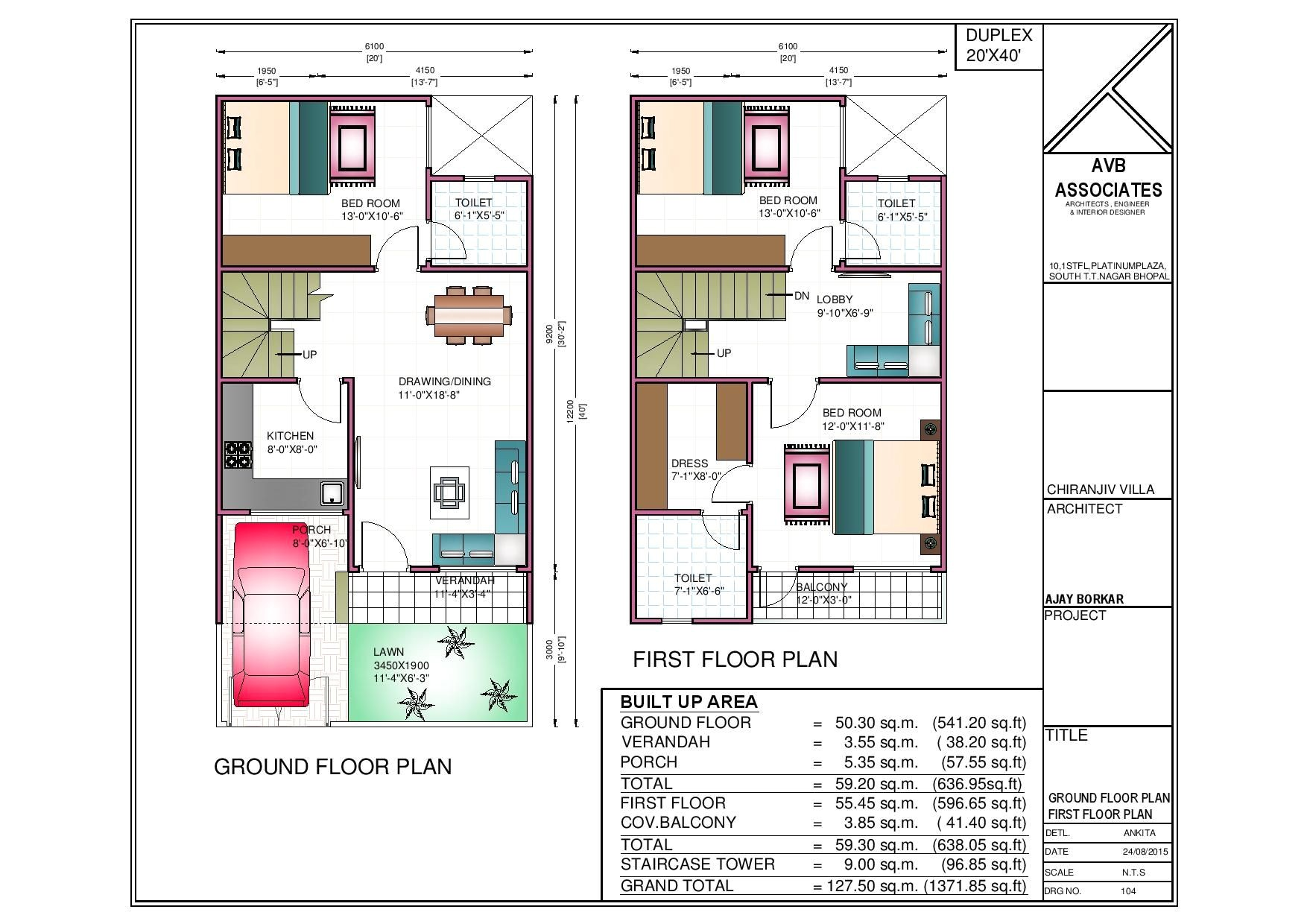 20 x 40 house plans west facing