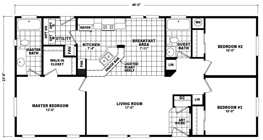 24 x 48 homes floor plans