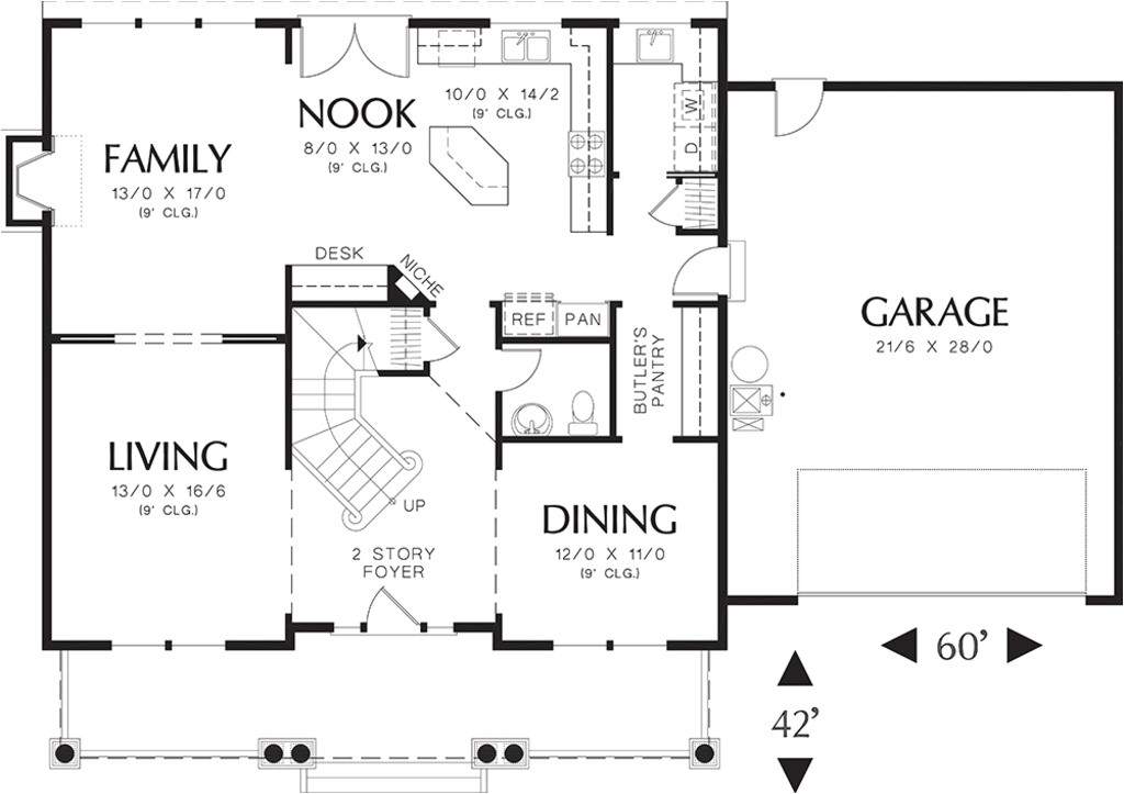 2500 square feet 4 bedrooms 2 5 bathroom craftsman home plans 2 garage 10735