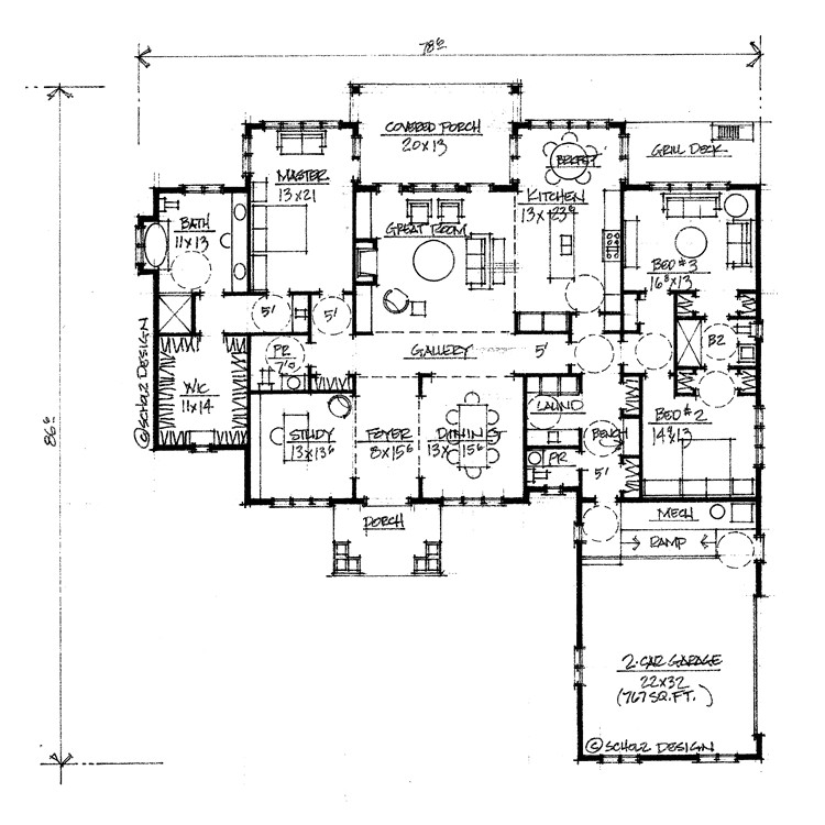 floor plans 2500 sq ft single story