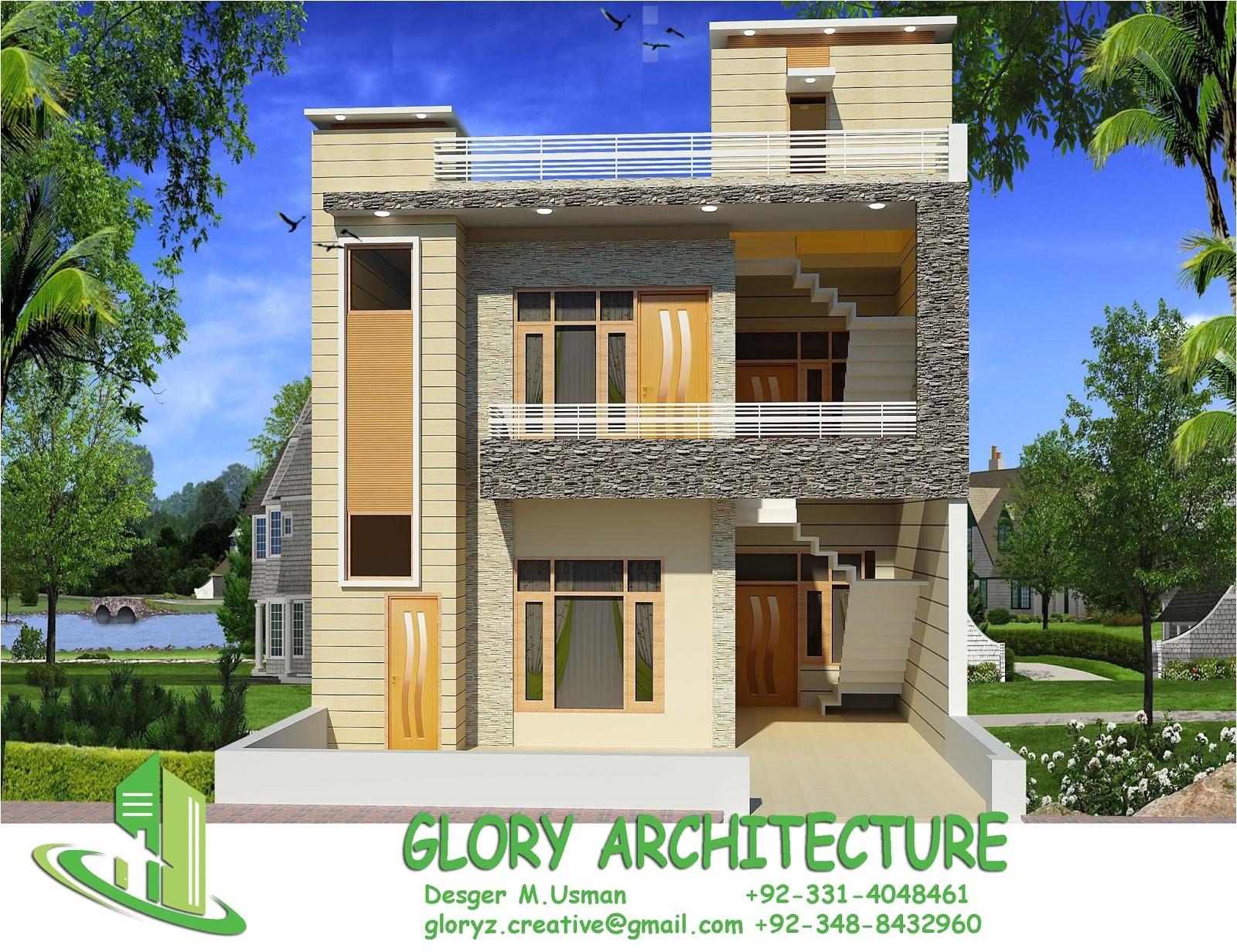25x30 house plan elevation 3d view 3d