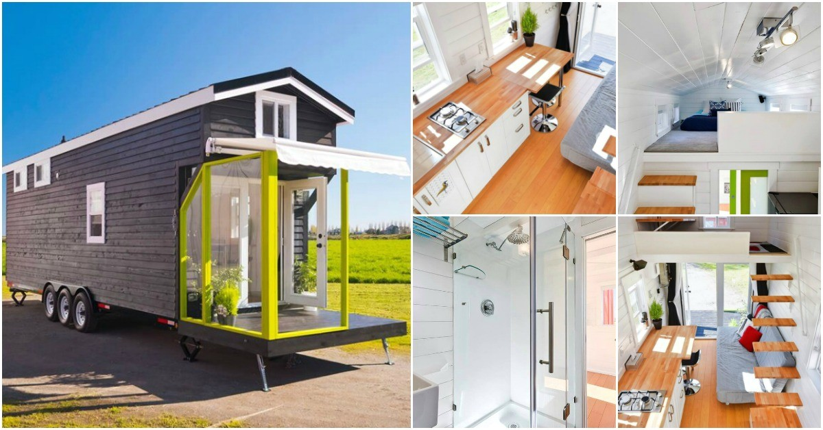 28 feet tiny house will amaze clever space savvy design