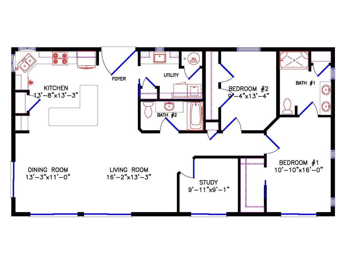 28×40 House Floor Plans 1 Bedroom Cabin Floor Plan Joy Studio Design Gallery