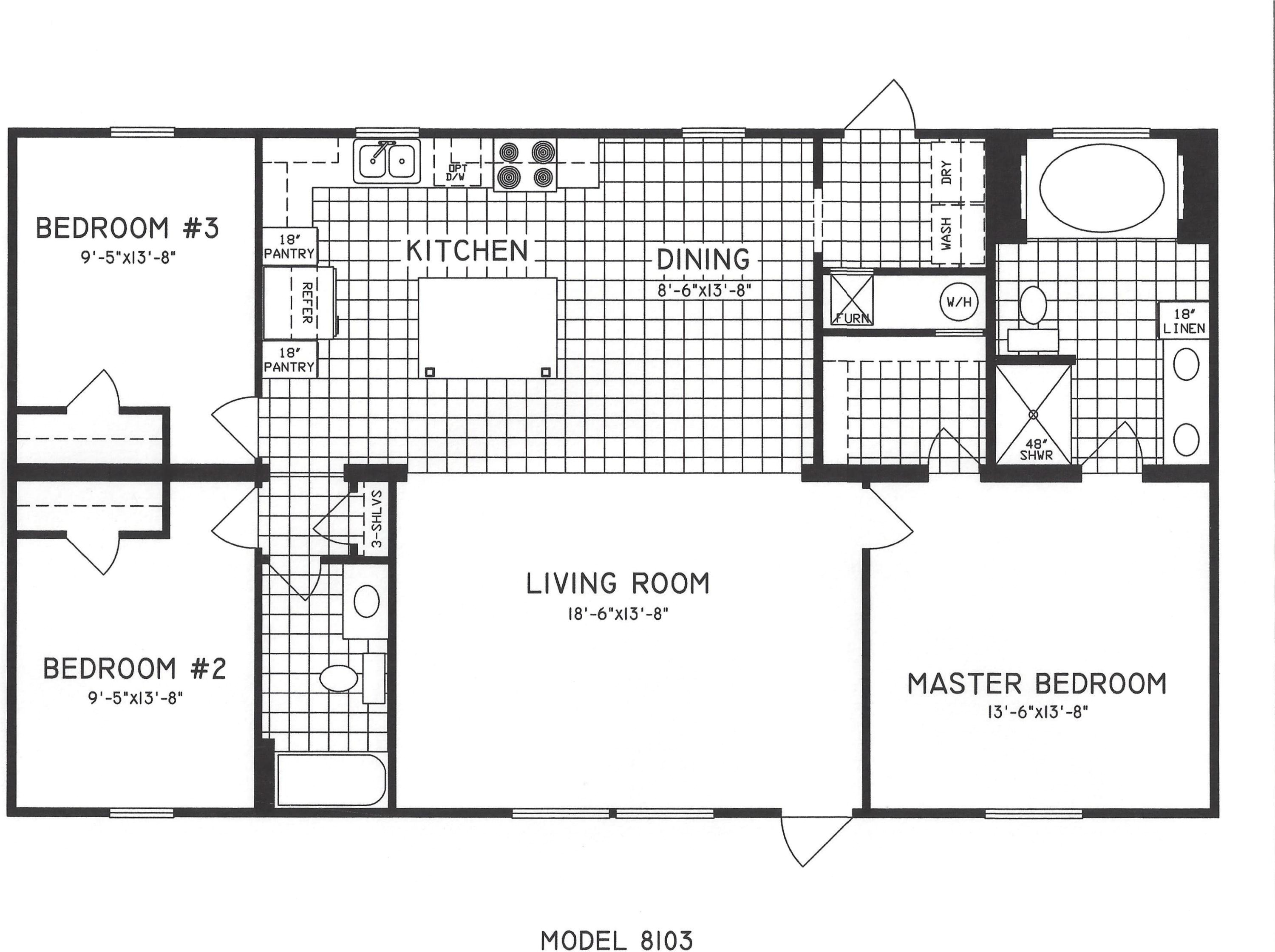3 bedroom floor plan c 8103 2