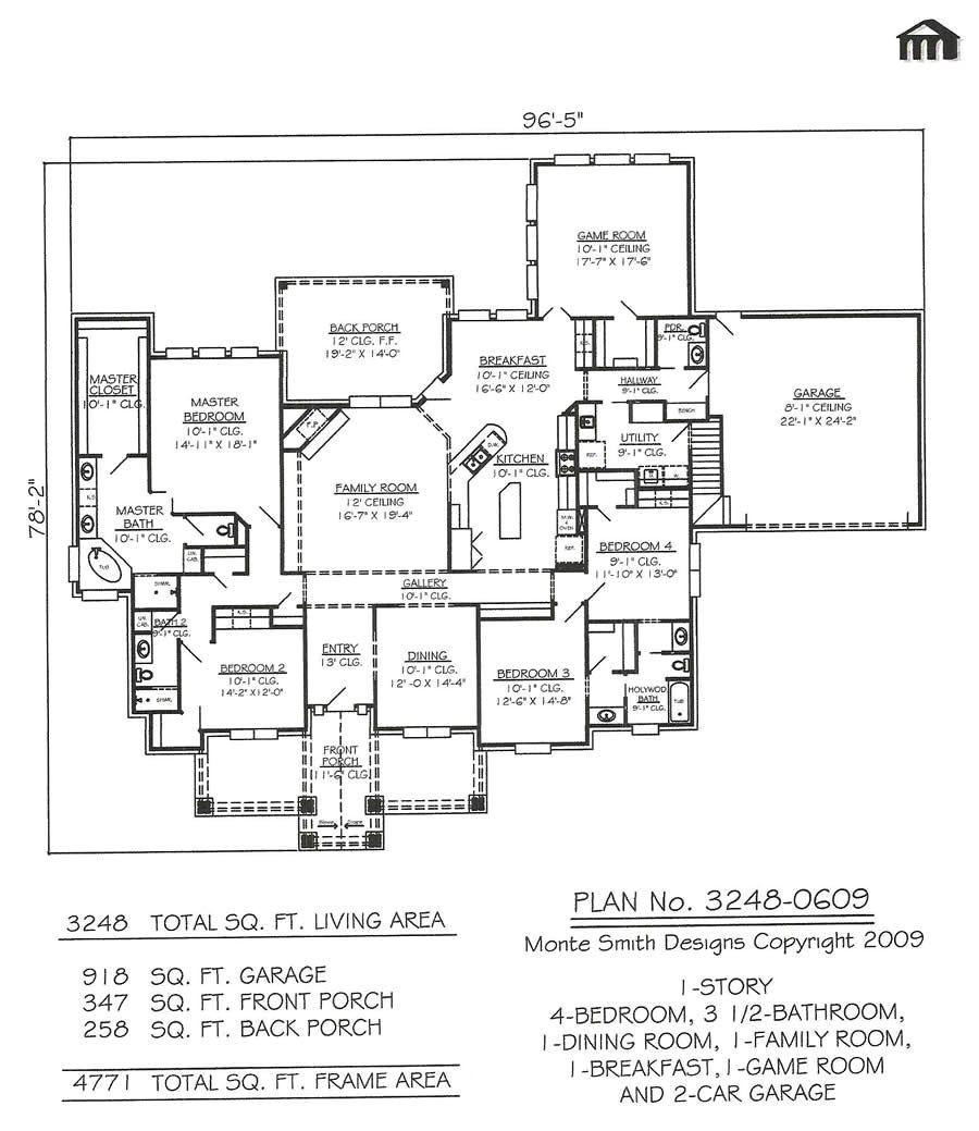 4 bedroom 3 5 bathroom house plans
