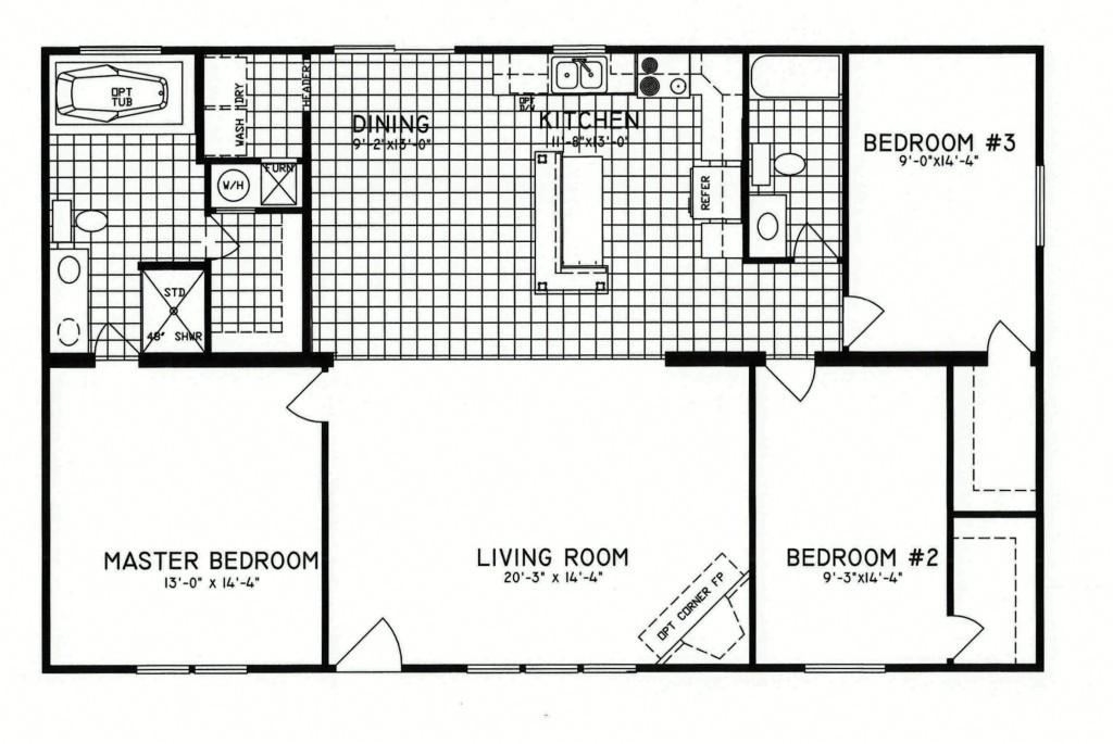 3 bedroom floor plan c 8206