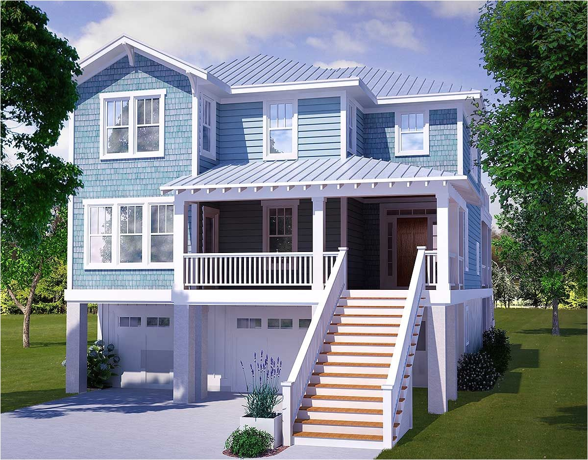 3 Story Beach House Plans with Elevator   plougonver.com