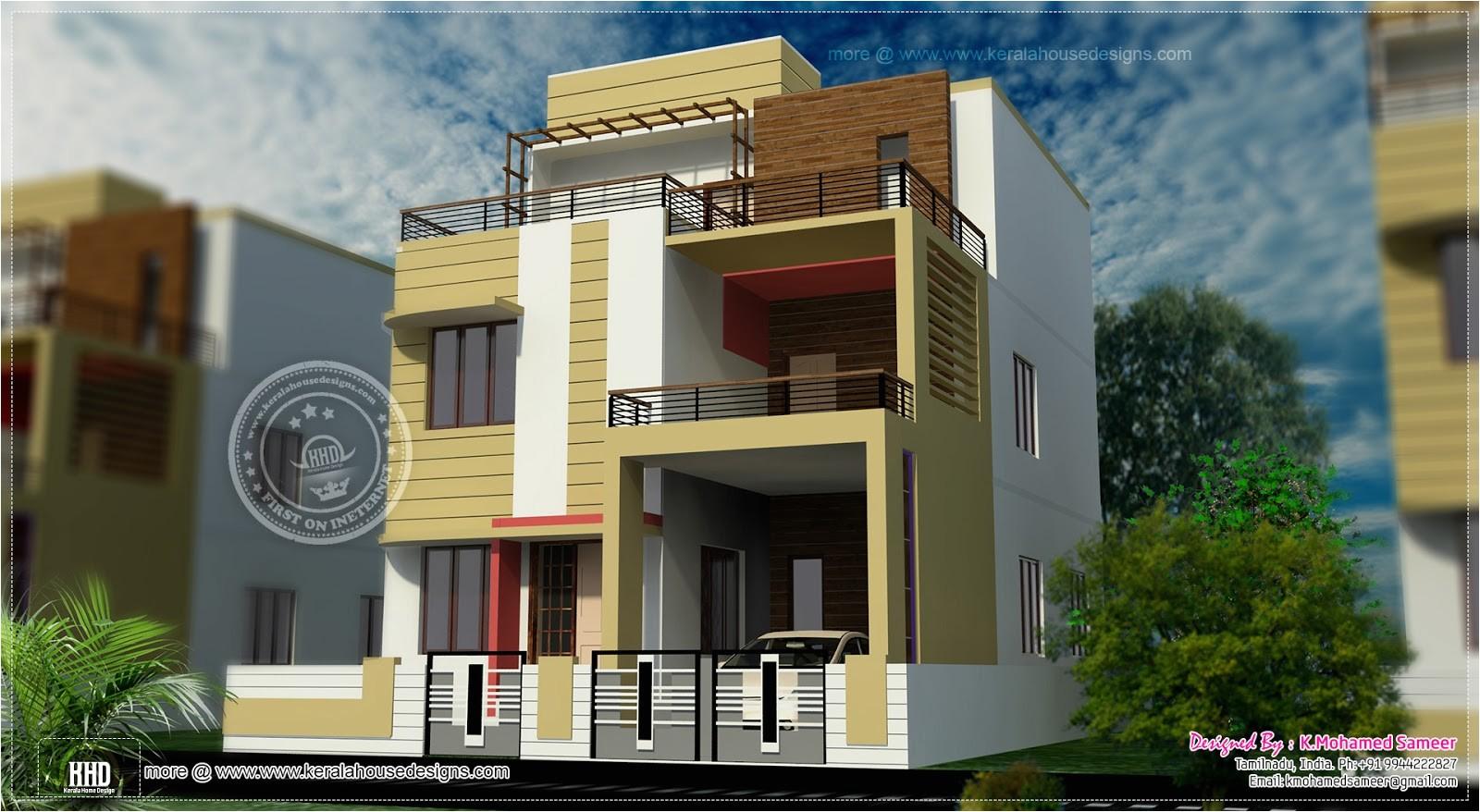 3story house plan design