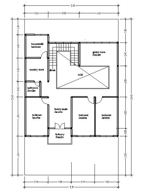 home blueprint 300 square meters