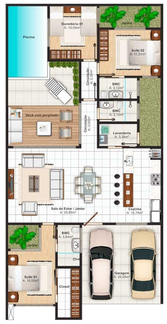 spain holidays villas floor plan with 3