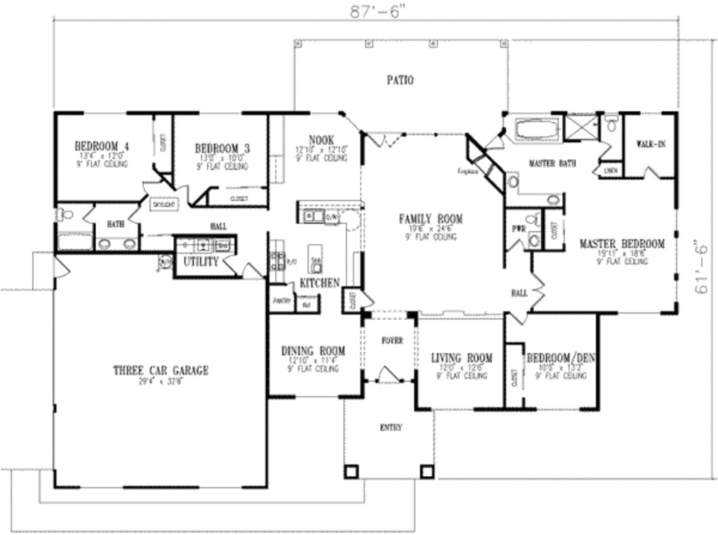 3000 square feet 4 bedrooms 2 5 bathroom southwest contemporary plans 3 garage 16287