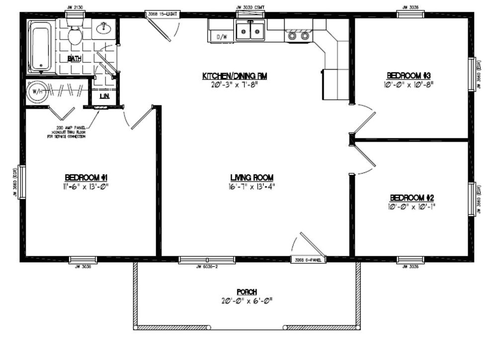 floor plans for cabin 24 x32