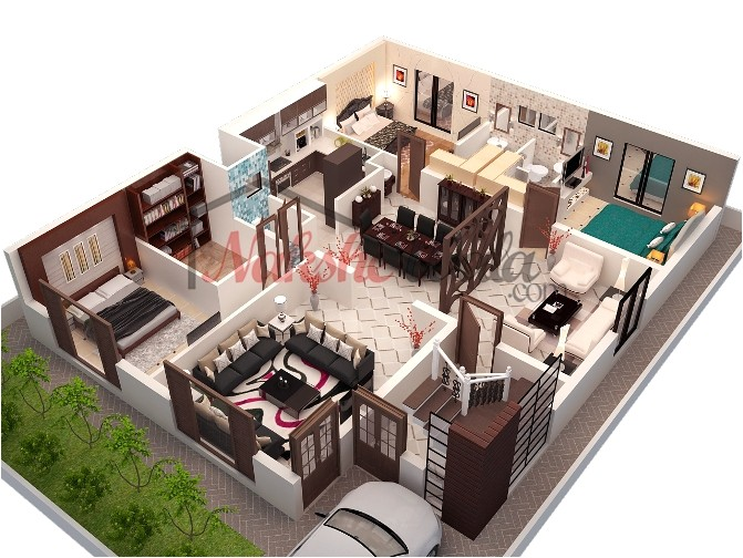 3d Home Floor Plan Design 3d Floor Plans 3d House Design 3d House Plan Customized