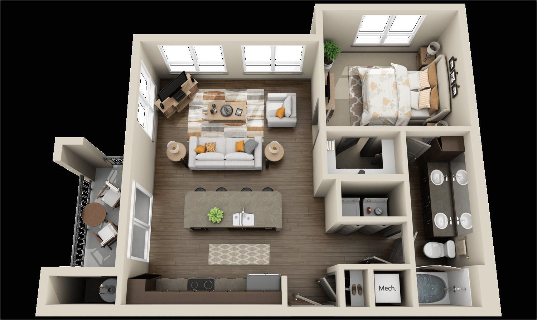 modern apartments houses 3d floor plans different models