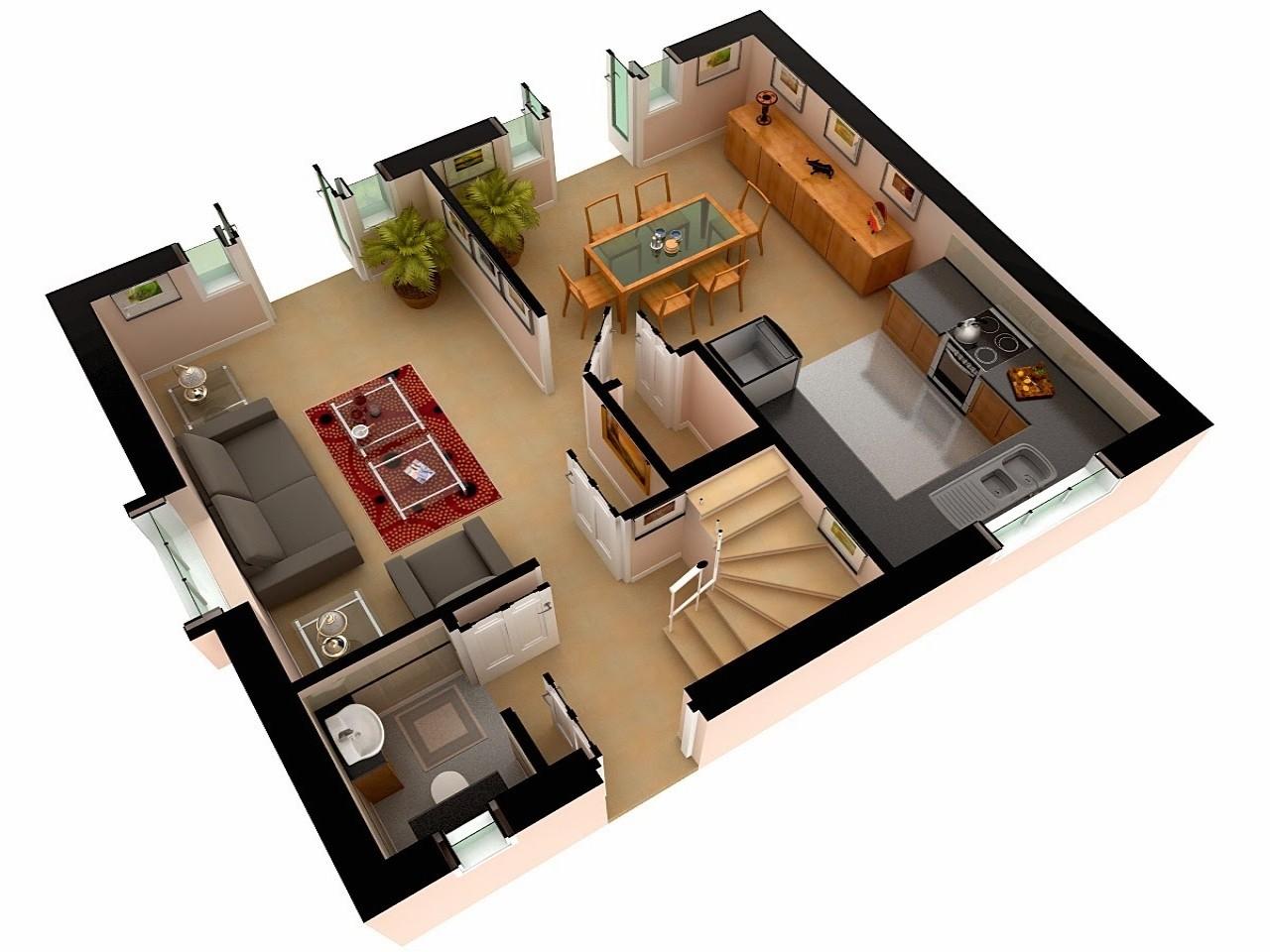 55143fa36168af78 multi story house plans 3d 3d floor plan design
