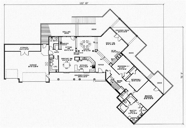 4 bedroom ranch style house plans