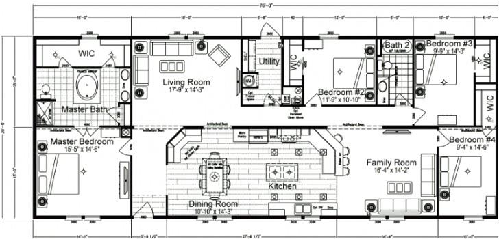 4 bedroom double wide mobile home floor plans