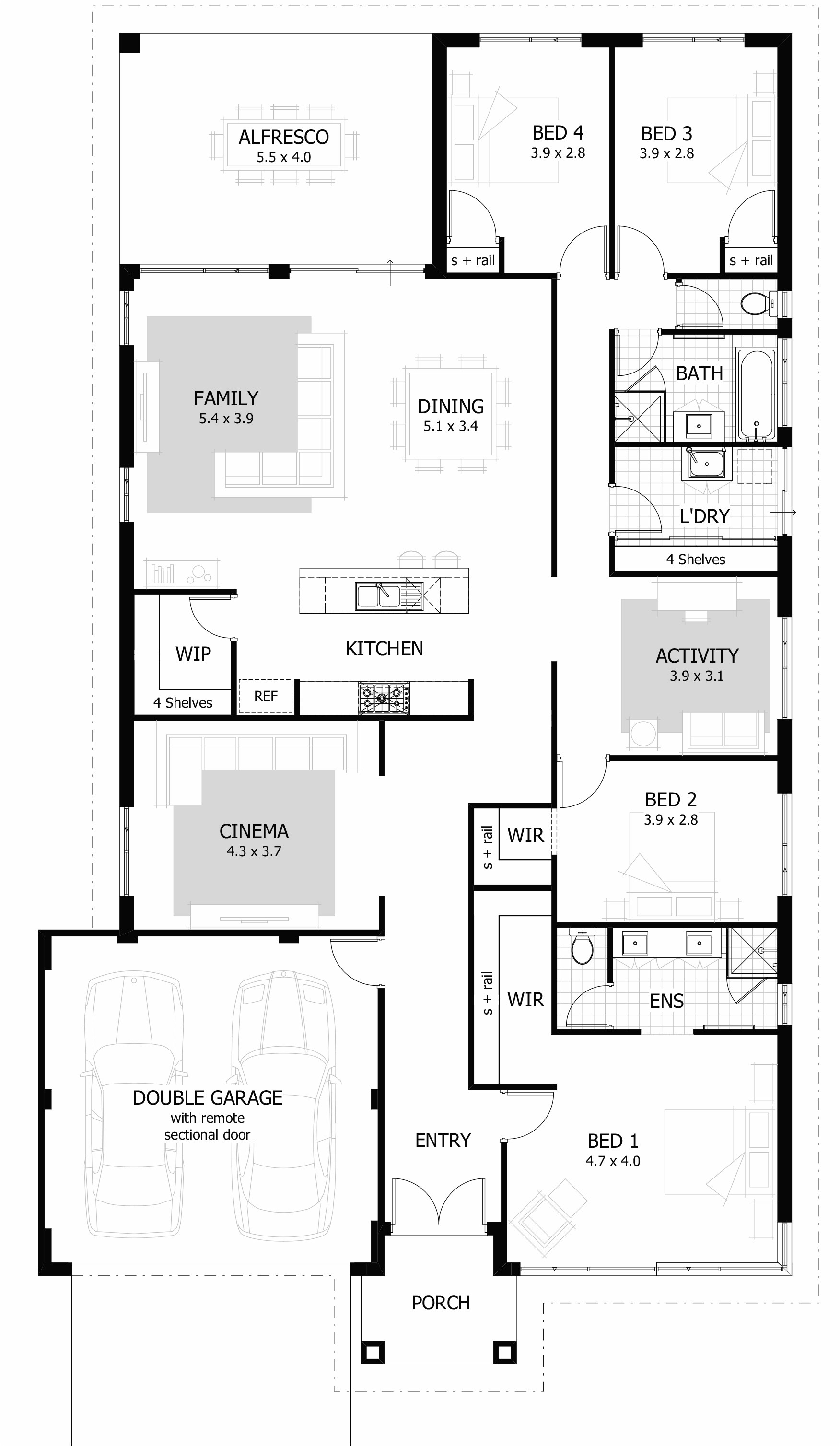 houses floor plans the best 4 bedroom house plans amp home designs