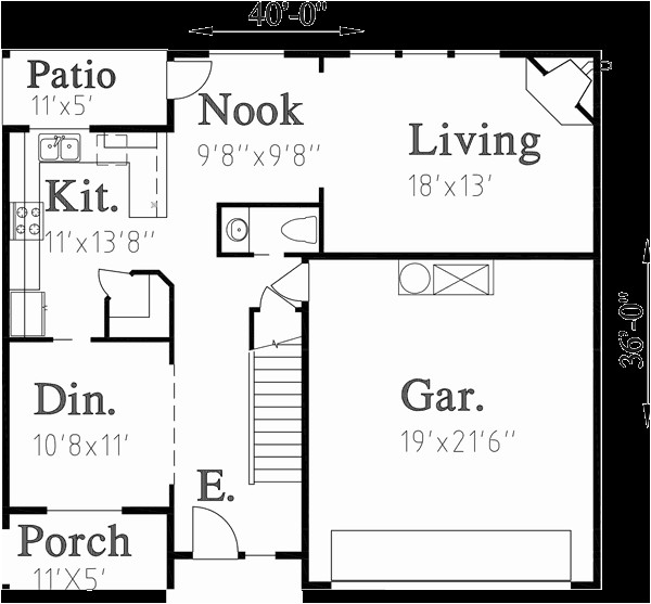 home plans 40 feet wide