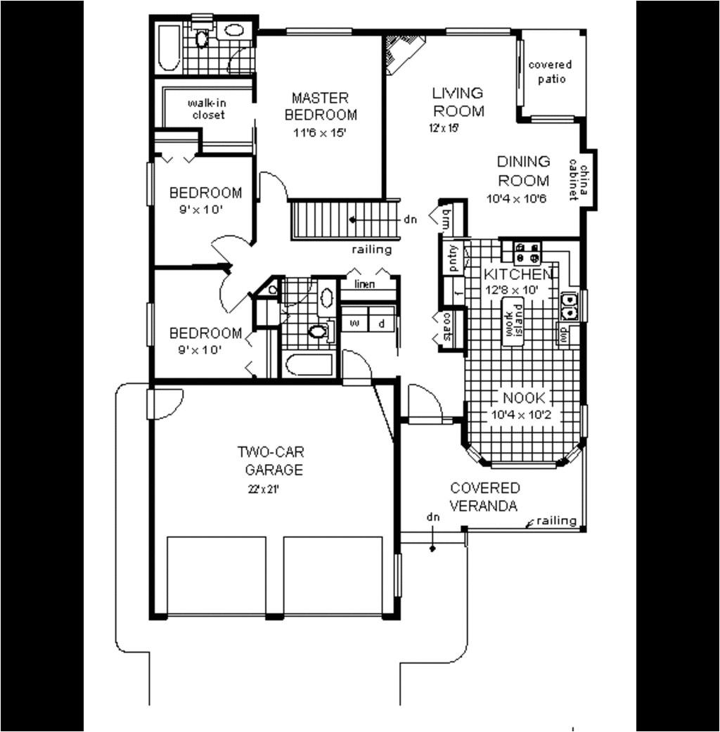 narrow lot house plan 40 feet wide