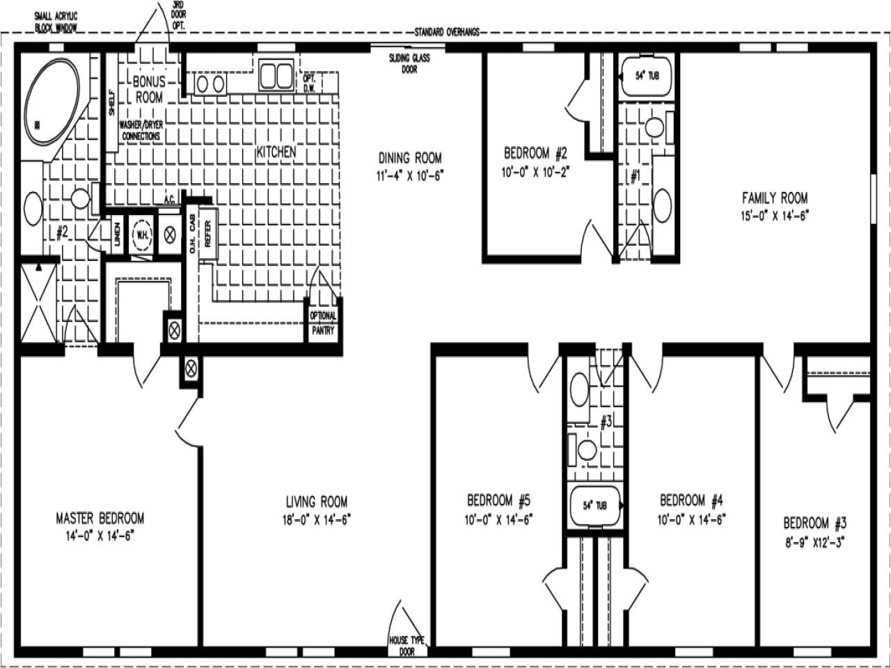 double wide floor plans 5 bedroom