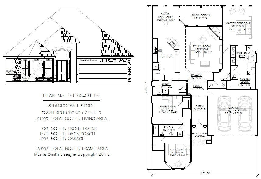 50 foot wide house plans