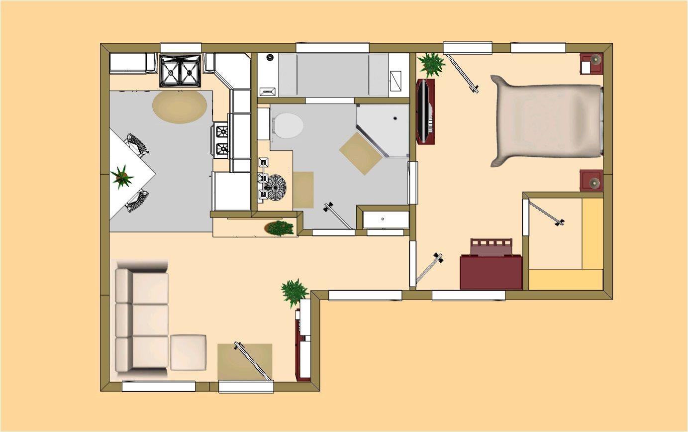 small house plans under 500 sq ft