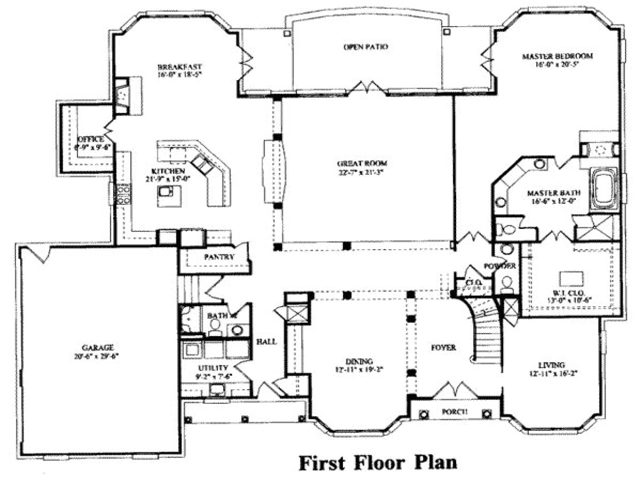 7 bedroom house floor plans