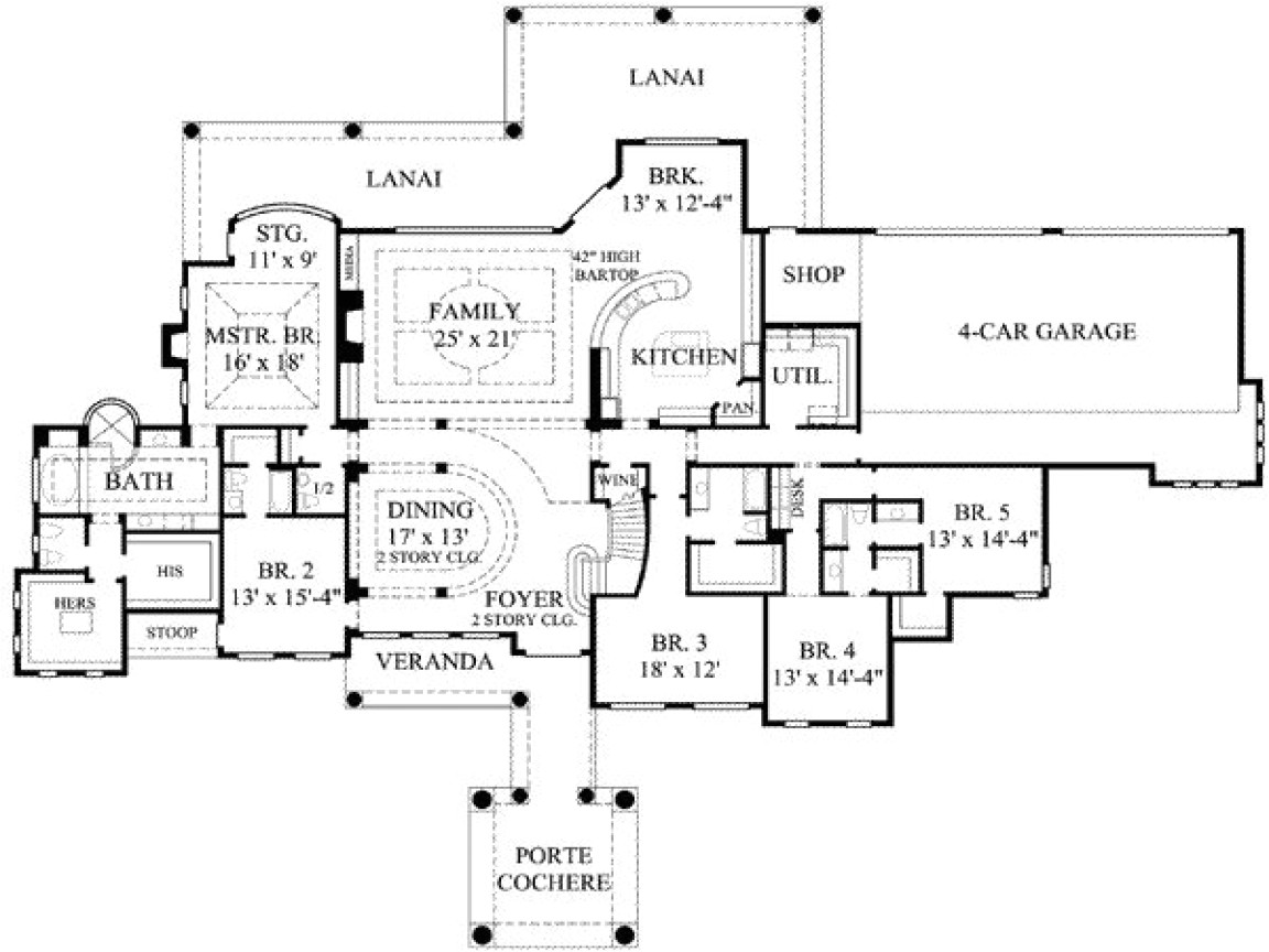 eafb85f98d12eff4 8 bedroom ranch house plans 7 bedroom house plans