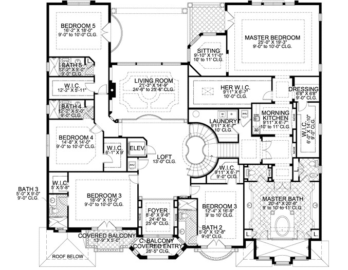 7883 sq ft home 2 story 7 bedroom 8 bath house plans plan37 249