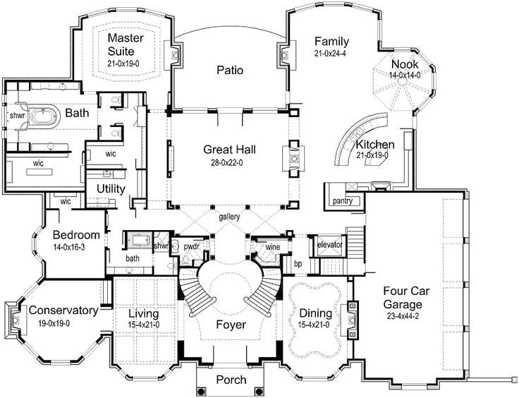 7000 to 8000 square foot house plans