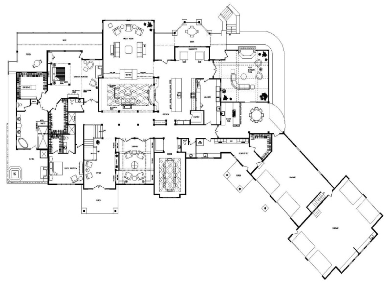 house plans 5000 sq ft or more