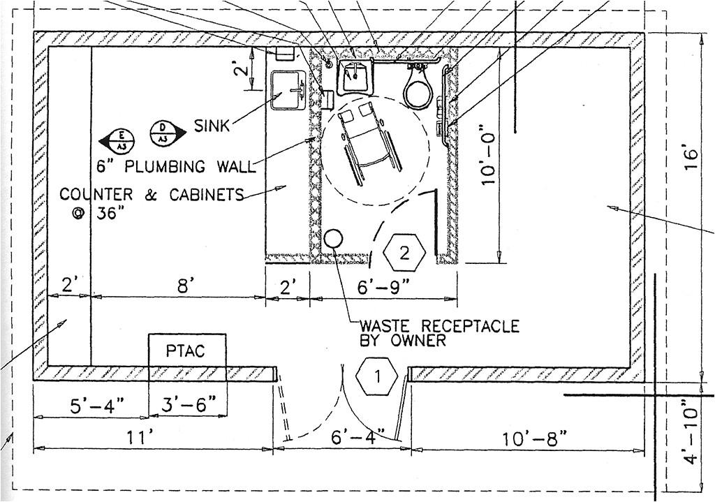 ada bathroom details