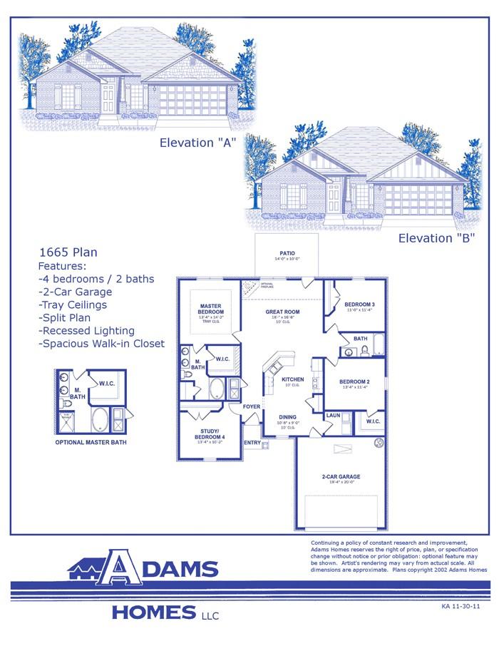 adams homes fl plans