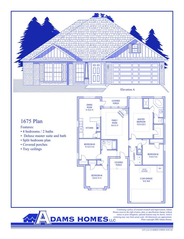 adams homes floor plans