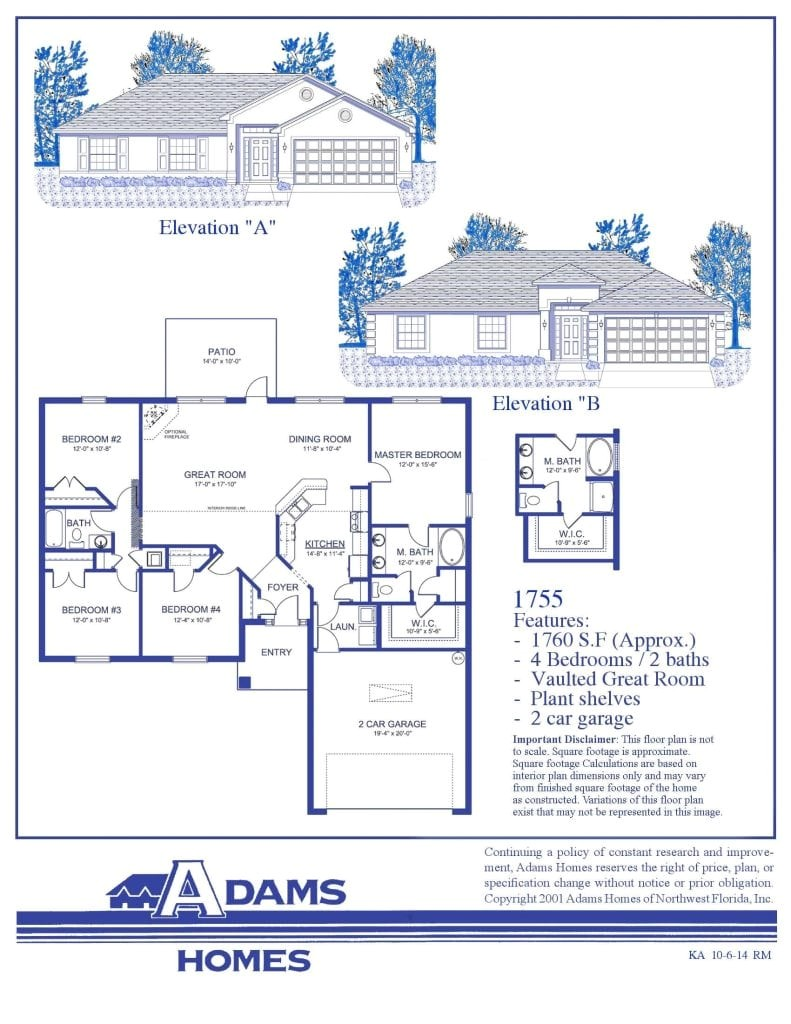 Adams Homes Plans Featured Home the Adams Homes 1755 Adams Homes