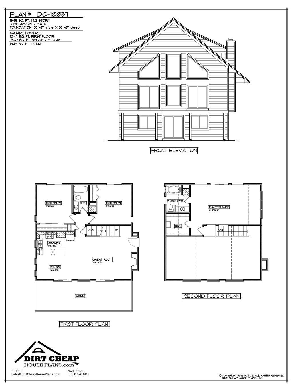 high quality cheap home plans 5 dirt cheap house plans