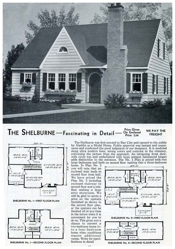 Aladdin Homes Floor Plans 1953 Aladdin Homes the Shelburne House Plans