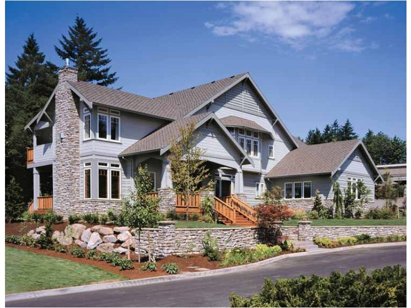 craftsman house plans angled garage 2