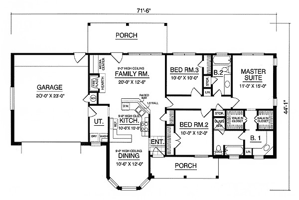 American House Plans with Photos Affordable American Country Home 7472rd 1st Floor