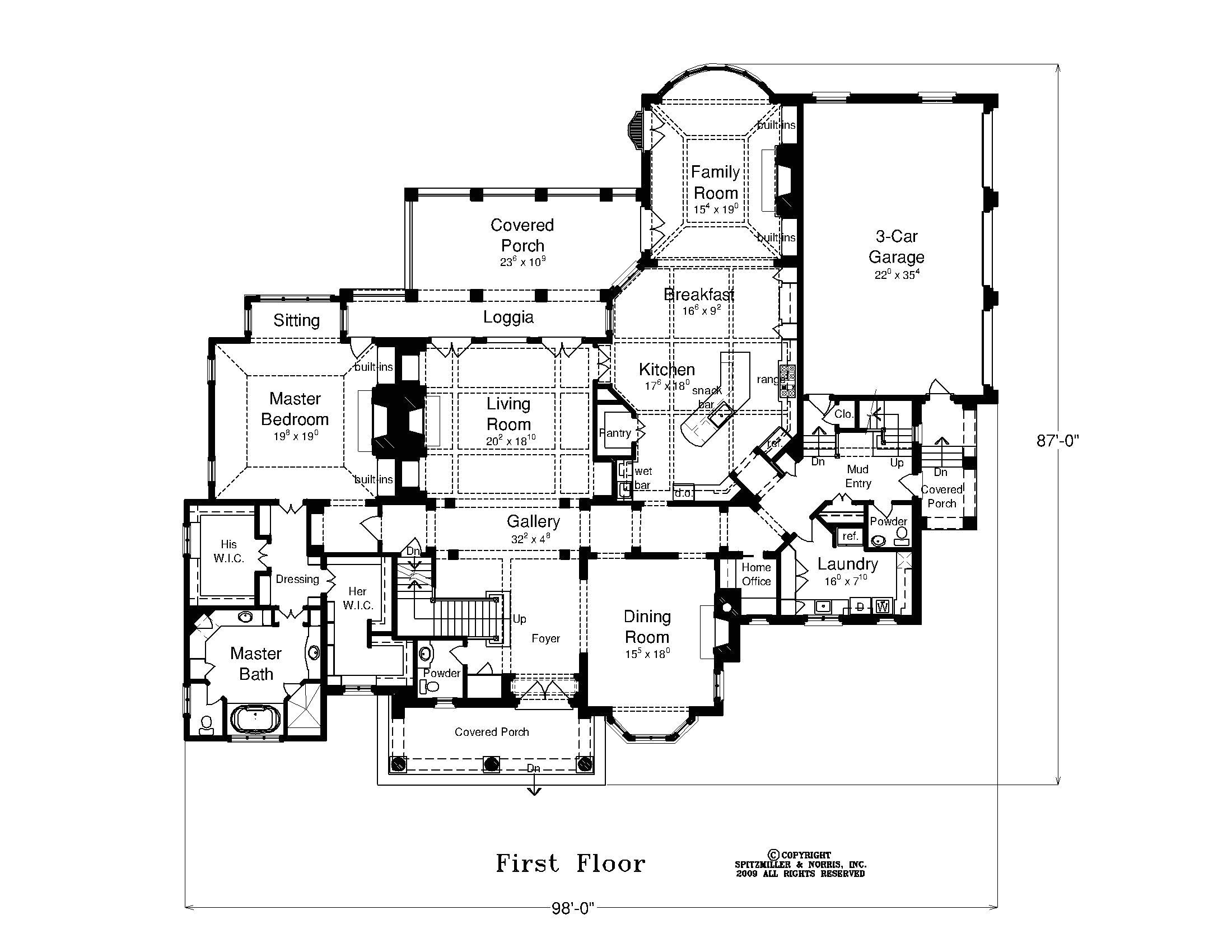 american house plans with photos
