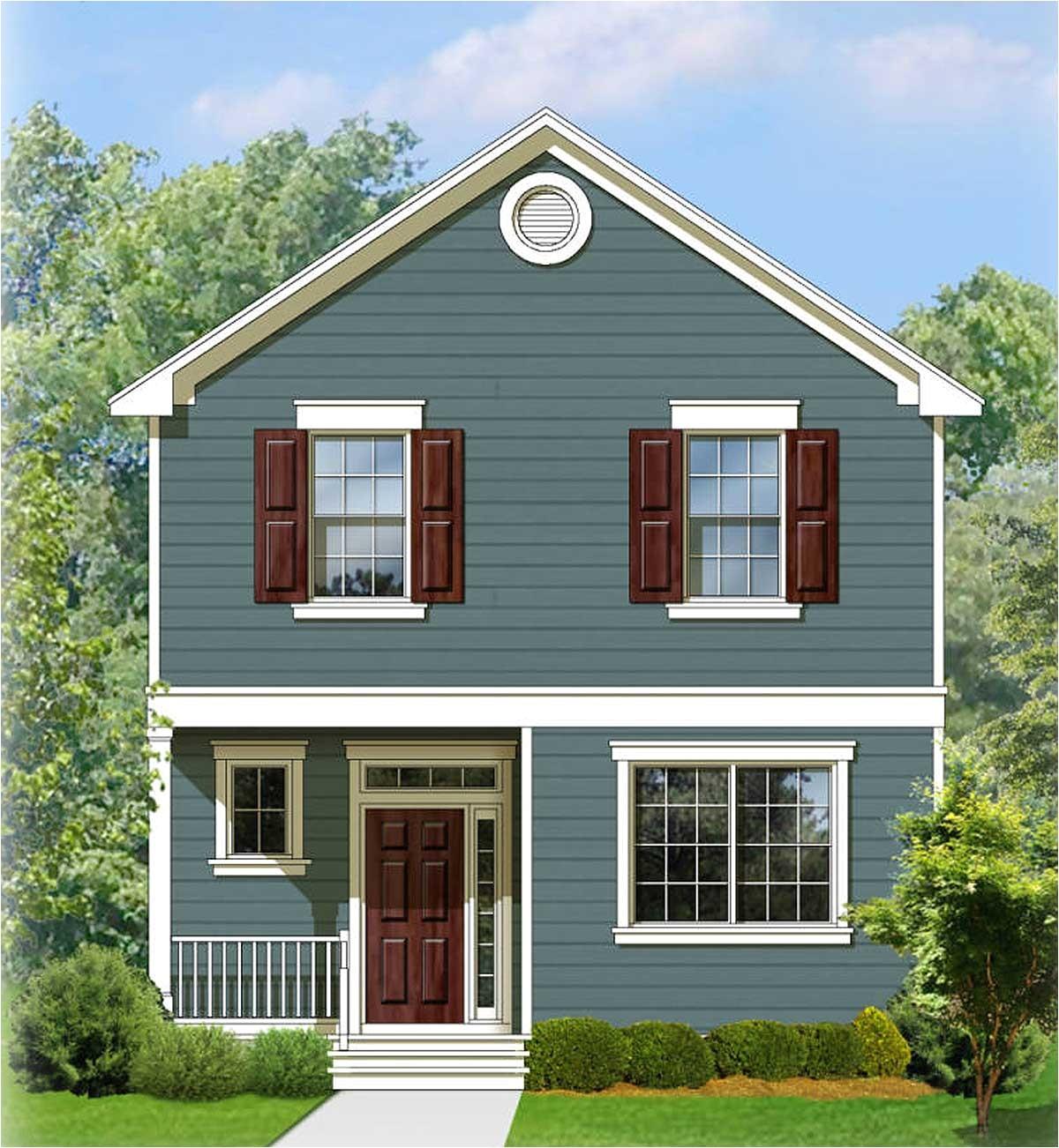 two story traditional house plan 82083ka