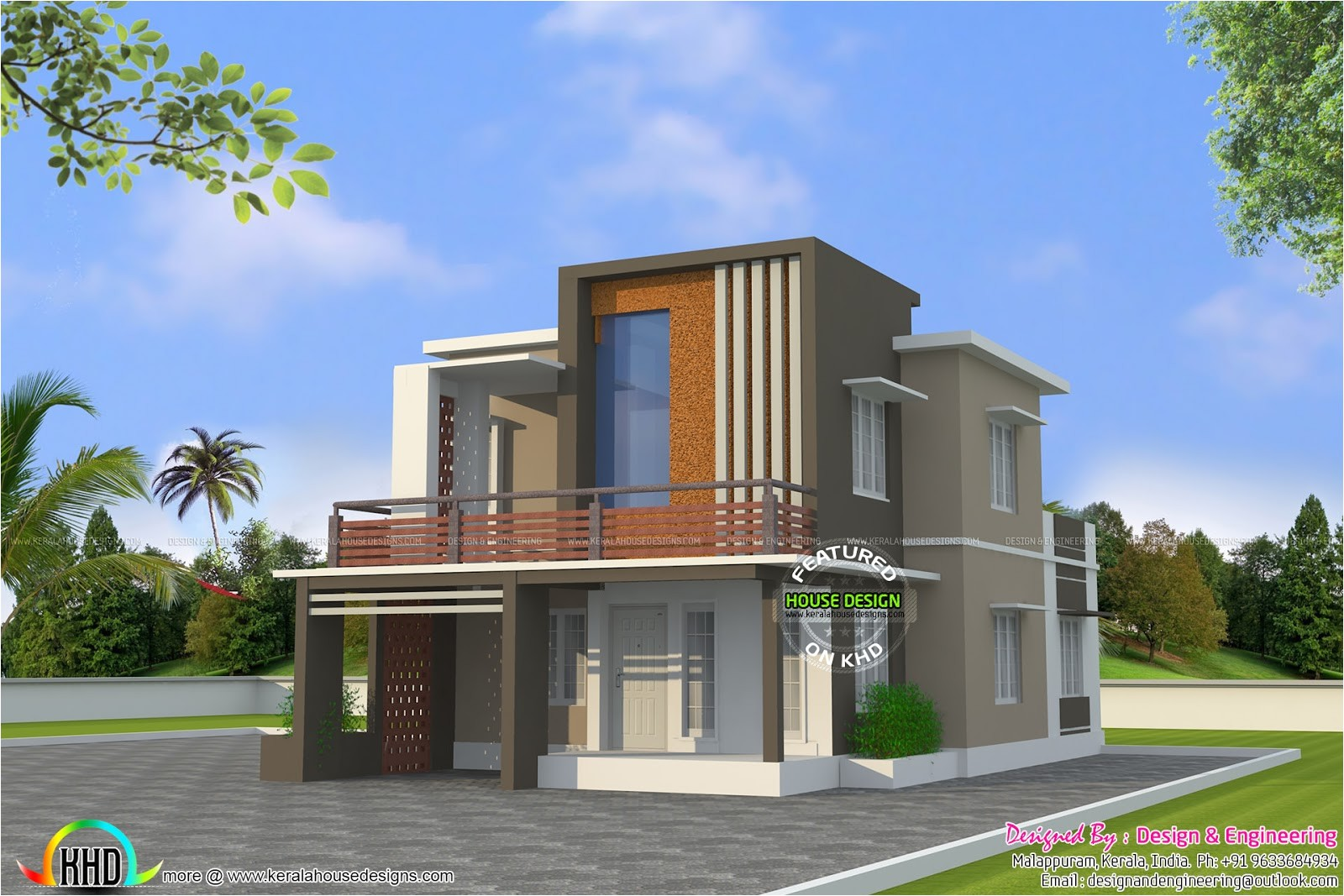 Architect Cost For House Plans Low Cost Double Floor Home Plan