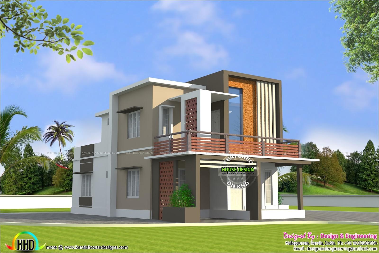 low cost double floor home plan