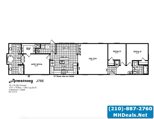 armstrong meridian 3 bed 2 bath singlewide home